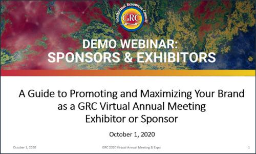 Exhibitor & Sponsor Webinar