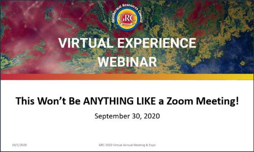 GRC Virtual Experience Webinar